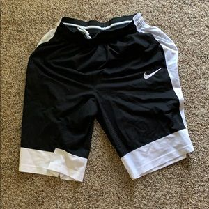 Nike black and white shorts size medium